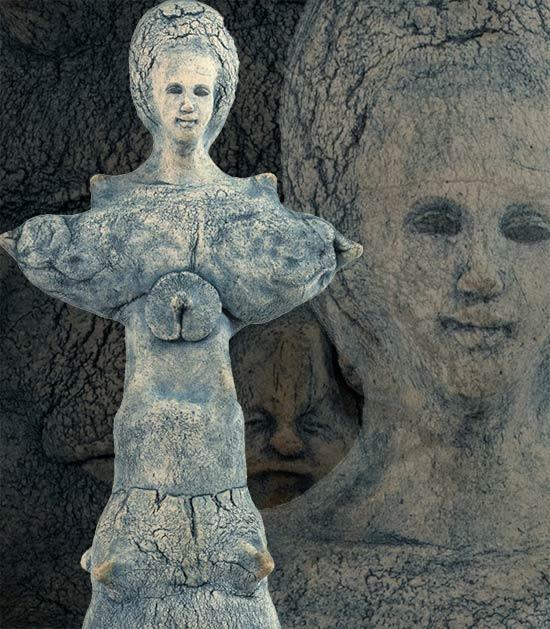 Keramik figur af Annette Valstrøm
