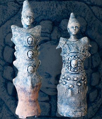 Keramikfigurer af Annette Valstrøm
